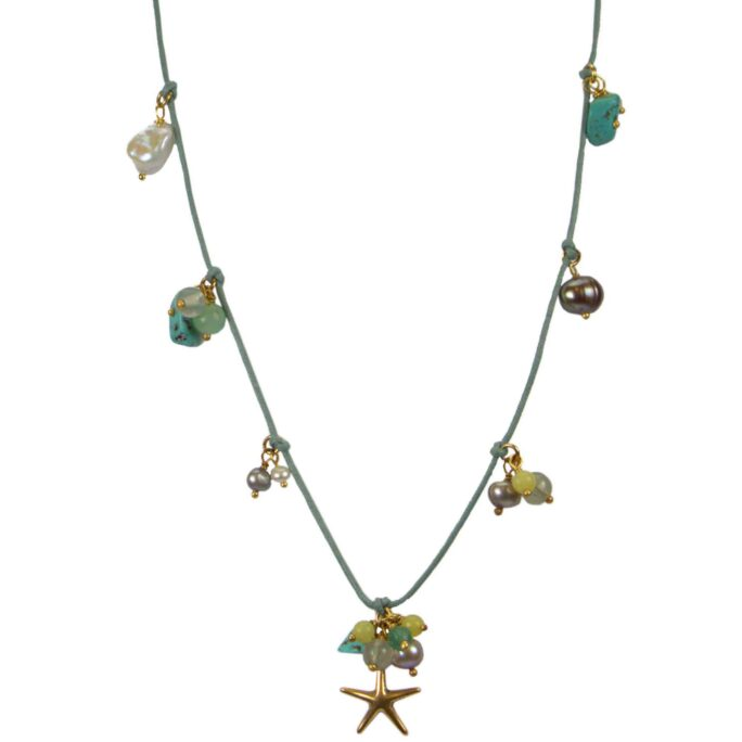 Hultquist Sea Treasures Cord Necklace 04582G