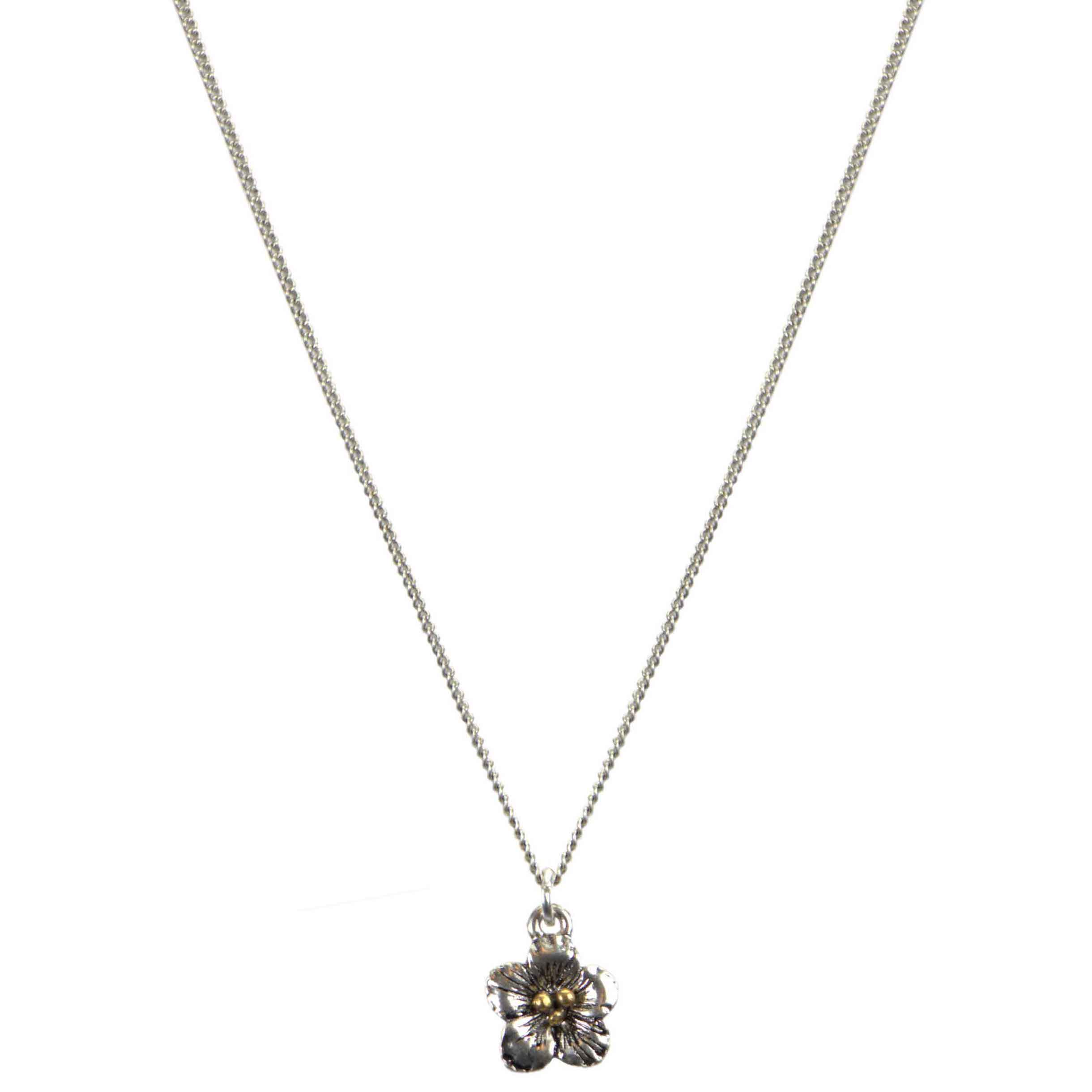 Hultquist Flower Pendant Necklace BiColour 04615-BI
