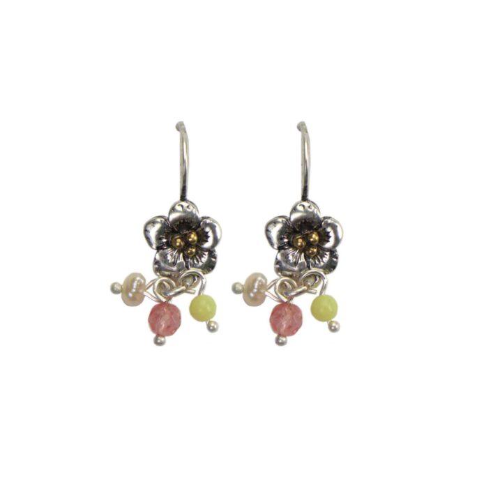 Hultquist Flower Hook Earrings BiColour 04623-S