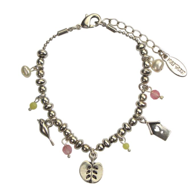 Hultquist Apple Multi Charm Bracelet Silver 04624-S