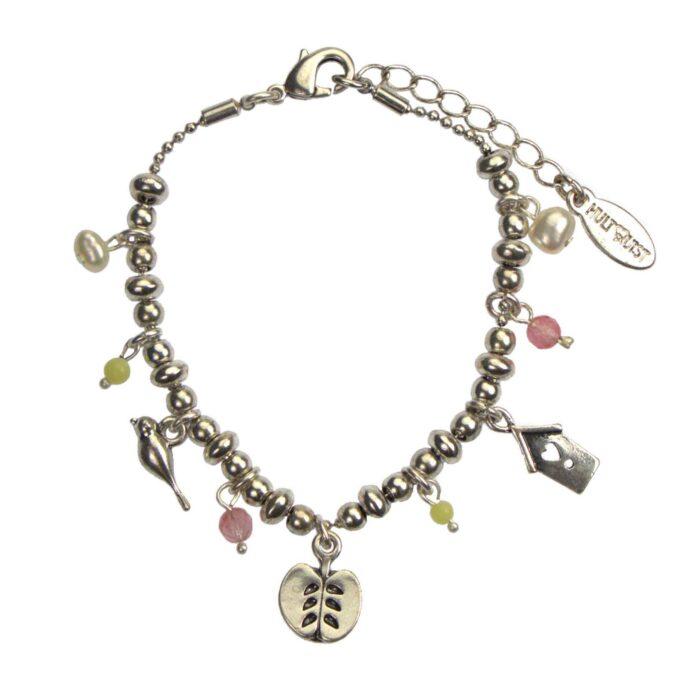 Hultquist Apple Multi Charm Bracelet Silver 04624-S