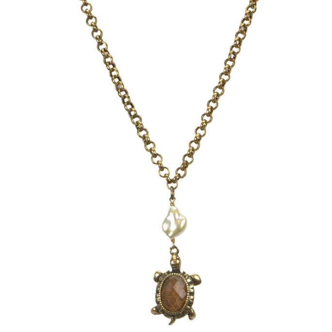 Hultquist Turtle Necklace Gold 04641-G