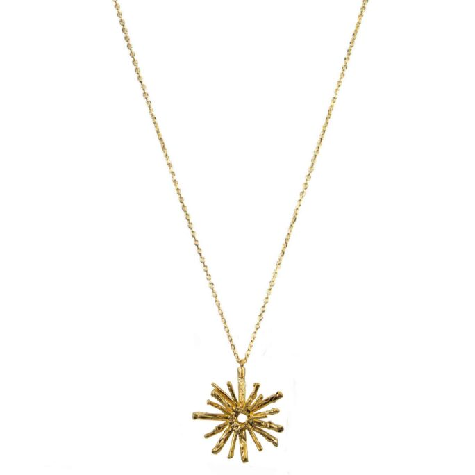 Hultquist Solar Necklace Gold 61030-G