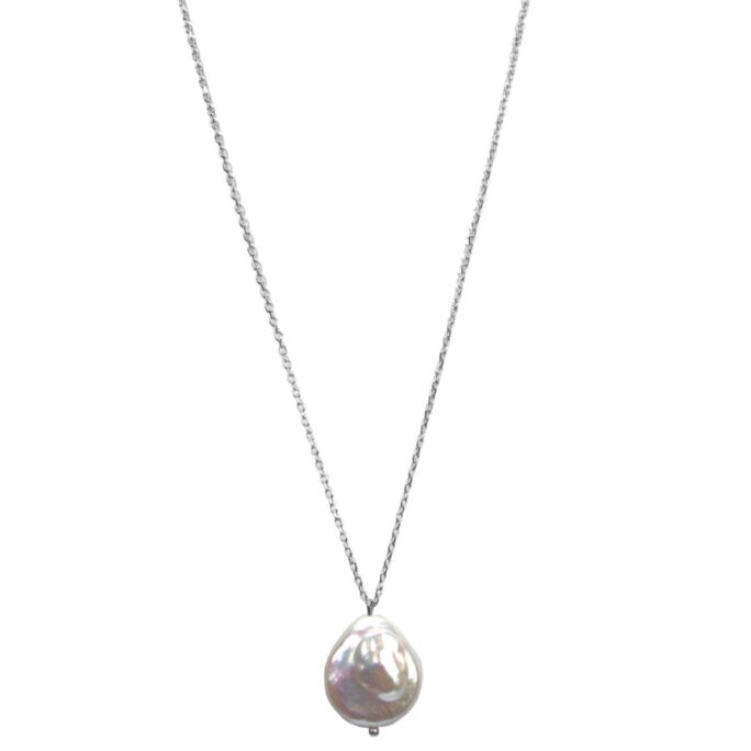 Hultquist Sea Treasures Pearl Necklace Silver 61033-S
