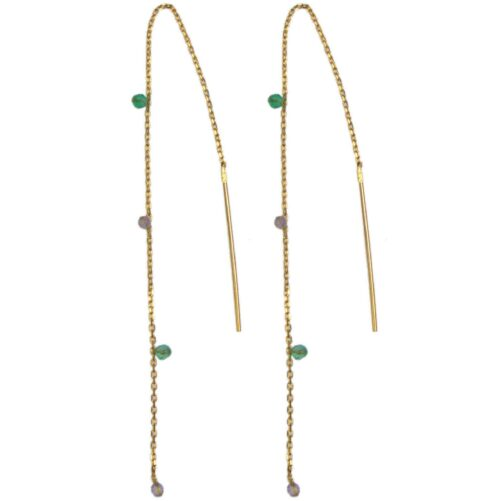Hultquist Arame Chain Earrings Gold 61046G