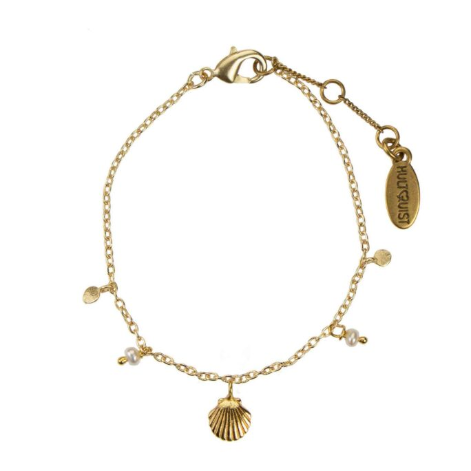 Hultquist Shell Bracelet Gold 66003-G