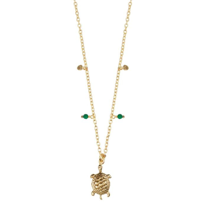 Hultquist Turtle Necklace Gold 66007G