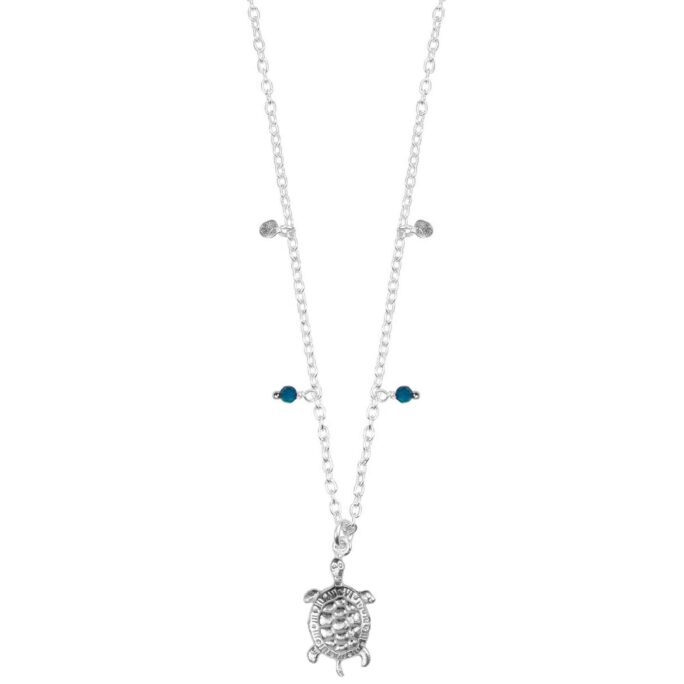 Hultquist Turtle Necklace Silver 66007S