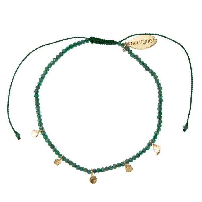 Hultquist Thalassa Macrame' Bracelet Gold 66009G