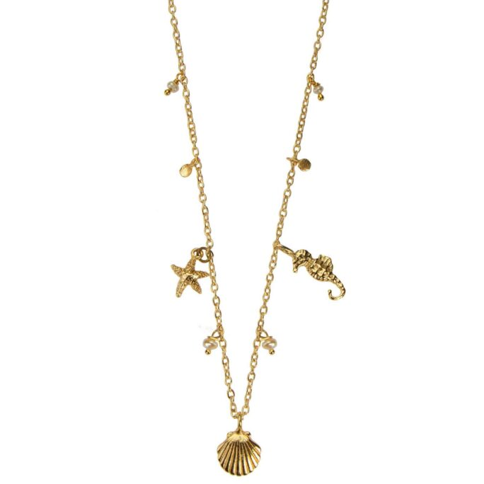 Hultquist Under The Sea Necklace Gold 66010-G