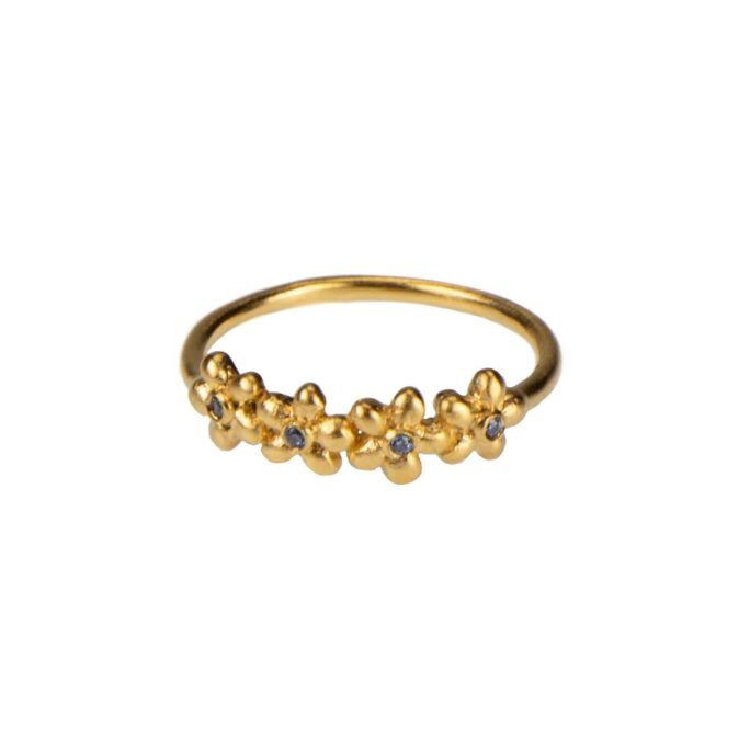Hultquist Anthia Ring Gold S02061G