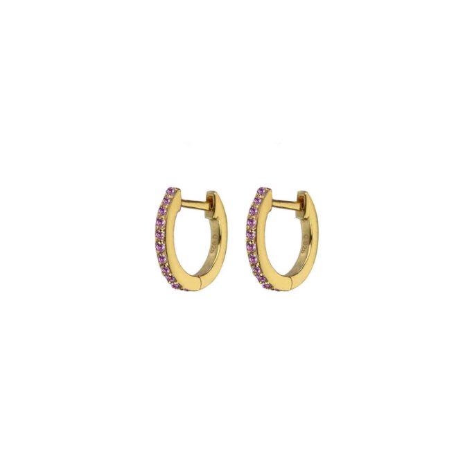Hultquist Esta Huggie Earrings Light Pink Gold S05045G-LP