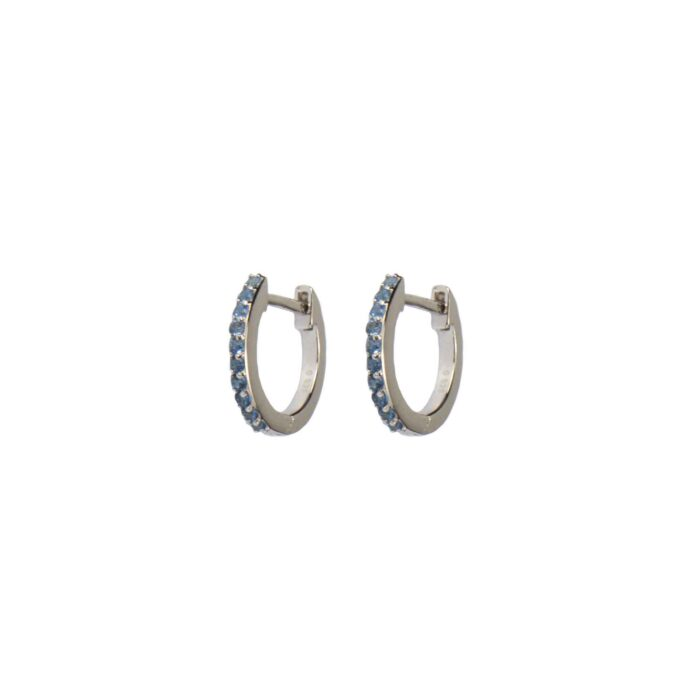Hultquist Esta Huggie Earrings Blue Sterling Silver S05045S-BL