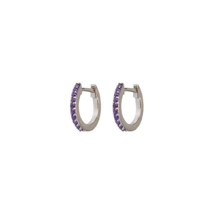 Hultquist Esta Huggie Earrings Violet Sterling Silver S05045S-VI