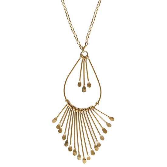 Hultquist Cascade Necklace Gold 0286G