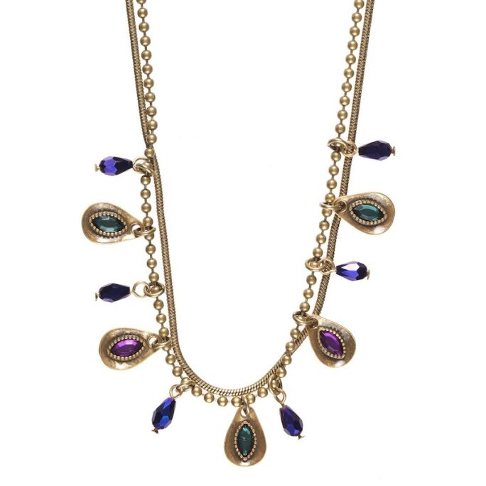 Hultquist Peacock Necklace Gold 0426G