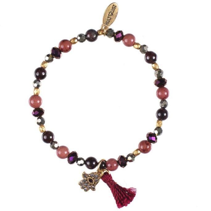 Hultquist Hamsa Elastic Bracelet Gold 0434G-R
