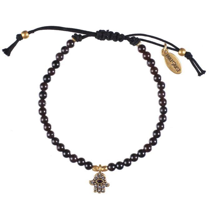 Hultquist Hamsa Macrame Bracelet Gold 0435G-R